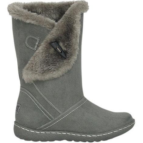 Pixie - Grey ellie toggle faux fur mid boots