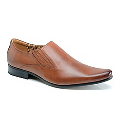 Front - Mens tan 'Enzo' formal shoes
