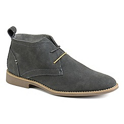 Front - Mens navy 'Roscoe' fashion boots