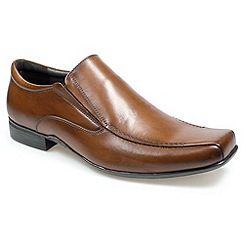 Pod - Mens brown 'Bari' loafers moccs shoes