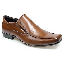 Pod - Mens brown 'Bari' loafers moccs shoes