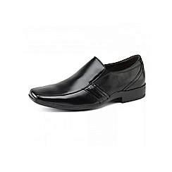 Front - Mens black 'Cradock' loafers moccs shoes
