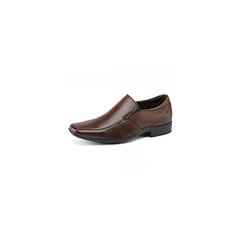 Front - Mens brown +Cradock+ loafers moccs shoes