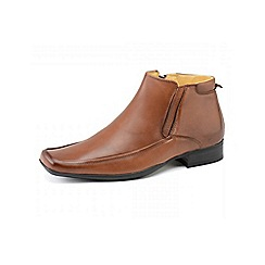 Front - Mens Tan 'Caterick Fr639' fashion boots