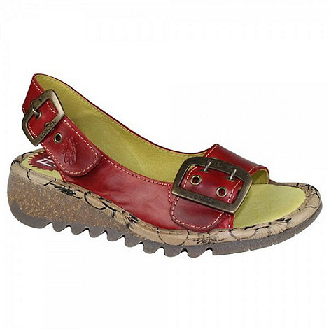 Fly London - Womens red +Tori+ wedge sandals