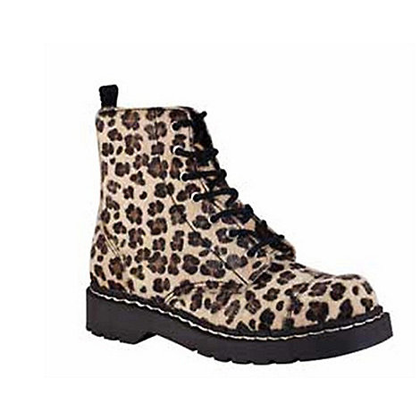 TUK - Leopard anarchic ankle boots
