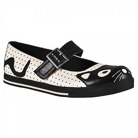 TUK - Cream kitty mary jane flats ballerinas shoes