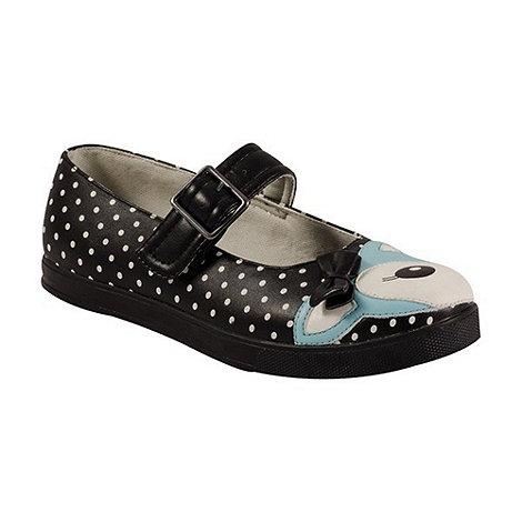 TUK - Black/blue deer mary jane flats ballerinas shoes
