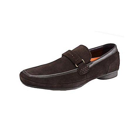 Azor - Brown suede montblanc formal shoes