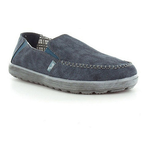 Hey Dude - Navy forli canvas