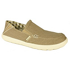 Hey Dude - Beige mens stretch beige 'Forli' canvas shoes