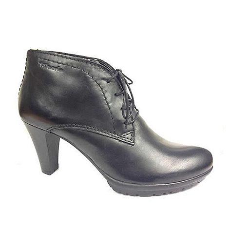 Tamaris - Black lace up ankle boots