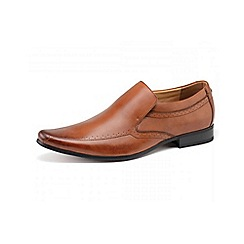 Front - Mens tan 'Sultan' loafers moccs shoes