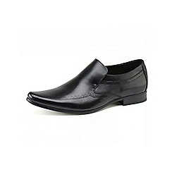 Front - Mens black 'Sultan' loafers moccs shoes