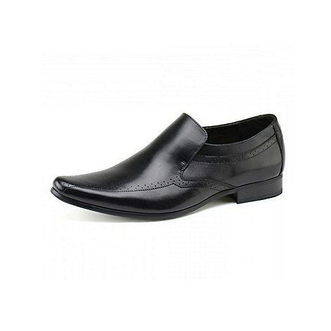 Front - Mens black +Sultan+ loafers moccs shoes
