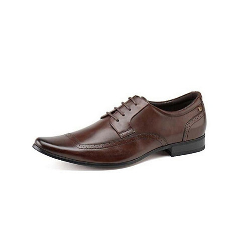 Front - Mens brown +Becker+ fashion lace shoes