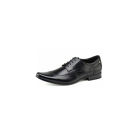 Front - Mens black +Becker+ fashion lace shoes