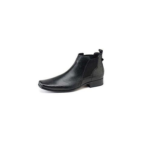Front - Mens black +Anson+ Fashion Boots
