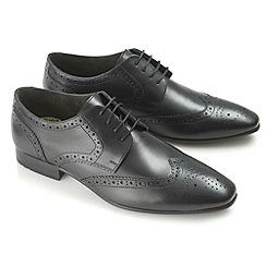 Ikon - Black statham fashion lace shoes