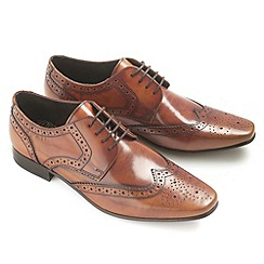 Ikon - Tan high shine 'Statham' fashion lace shoes
