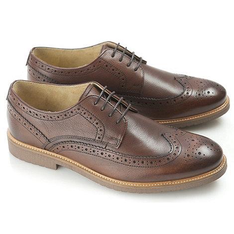 Ikon - Mens brown almond fashion lace shoes