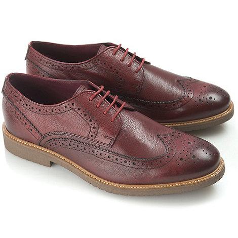Ikon - Bordeaux almond fashion lace shoes