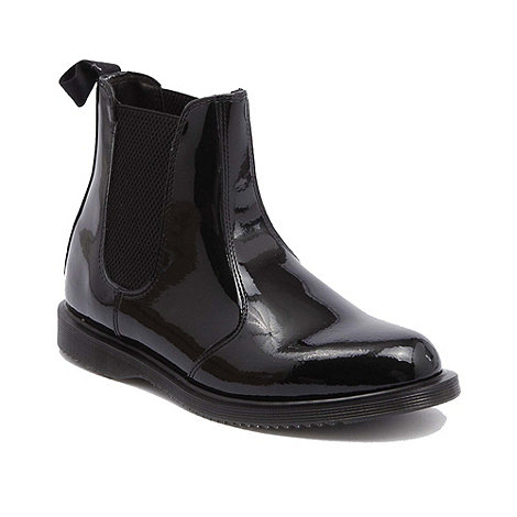 Dr Martens - Black patent faun ankle boots