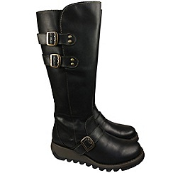 Fly London - Black solv high boots