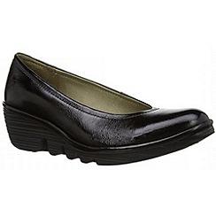 Fly London - Black patent Black patent 'Pump' court shoes