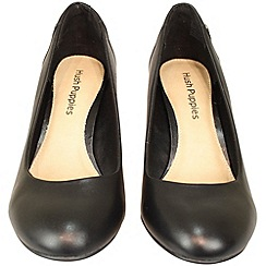 Hush Puppies - 'Imagery' black court shoe with comfort sock