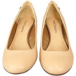 Hush Puppies - Nude colour 'Imagery' pump court shoe with comforrt sock