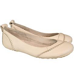 Hush Puppies - Womens white 'Janessa' flats ballerinas shoes