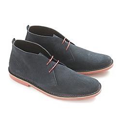 Ikon - Navy 'Ak' desert boot casual boots