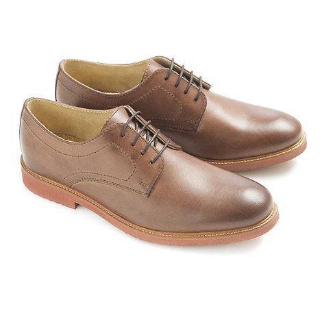 Ikon - Mens brown +Pecan+ formal shoes