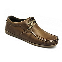 Ikon - Tan men's tan leather two eyelet lace up shoe