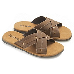 Ikon - Tan 'Cornwall' slide sandals