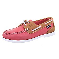 Chatham - Pink 'Pippa G2' coral/tan deck shoes