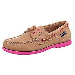 Chatham - Tan chatham 'Pippa G2' tan/pink deck shoes