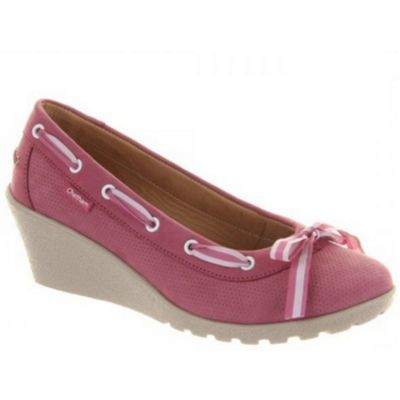 Chatham Pink ´dotty´ court wedges - . -