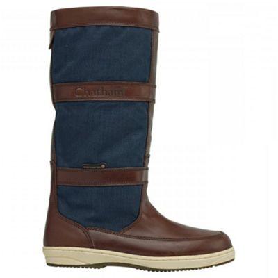 Chatham Navy/brown ´catamaran´ waterproof boots - . -