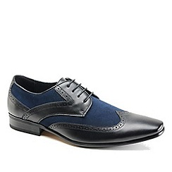 Front - Black/Blue formal shoes