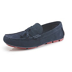 Front - Navy casual shoes