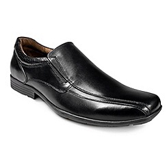 Pod - Aqua black leather slip on shoes