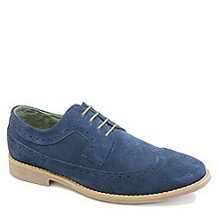 Front - Navy fashion lace shoes