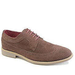 Front - Brown fashion lace shoes