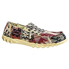 Hey Dude - Red 'Farty 2 Inca' lightweight canvas shoes