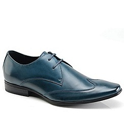Front - Blue formal shoes