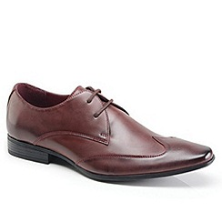 Front - Burgundy formal shoes