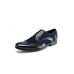 Azor - Black blue formal shoes