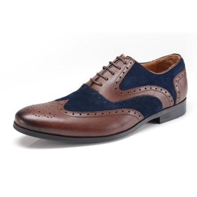 Azor brown/blue formal shoes - . -